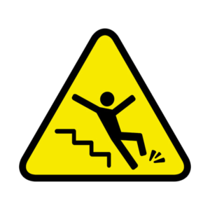 Slip and fall accident sign | Slip and fall personal injury law | Law Offices of P. Kent Eichelzer III